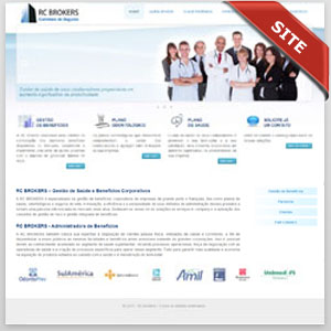 criamos o site da rc brokers